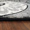 Hochwertiger Luxus Teppich Ayyildiz Astana Wirbel schwarz