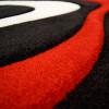 Moderne Teppich Diva 3D Handcarving Schwarz Rot Weiss