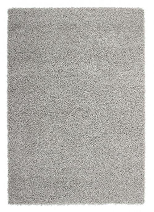 Tappeto shaggy a pelo lungo in bianco e nero tinta unita - Tappeto riscaldamento pavimento ...