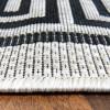 Teppich Flachgewebe grau schwarz Mäander Top Angebot