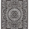 Teppich Modern Krone Lurex Glanzfäden Ornamente schwarz