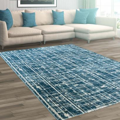tapis polyester poil ras haute qualit moderne bleu turquoise clair ebay. Black Bedroom Furniture Sets. Home Design Ideas