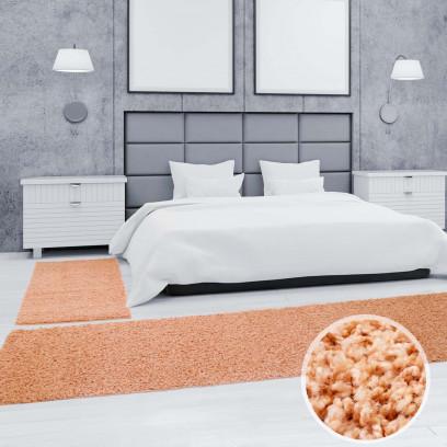 shaggy bettumrandung 3 teilig pastell teppich l ufer 2x. Black Bedroom Furniture Sets. Home Design Ideas