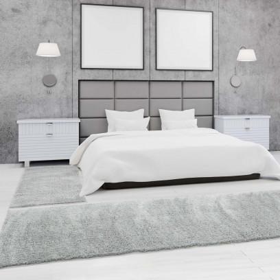 bettumrandung shaggy micro polyester teppich l ufer einfarbig uni schlafzimmer ebay. Black Bedroom Furniture Sets. Home Design Ideas