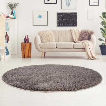teppich shaggy micro polyester hochflor einfarbig uni grau wei pink blau beige ebay. Black Bedroom Furniture Sets. Home Design Ideas
