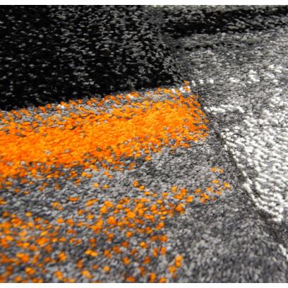 Carpet Flat Pile Shake Modern Mottled In Blue Orange